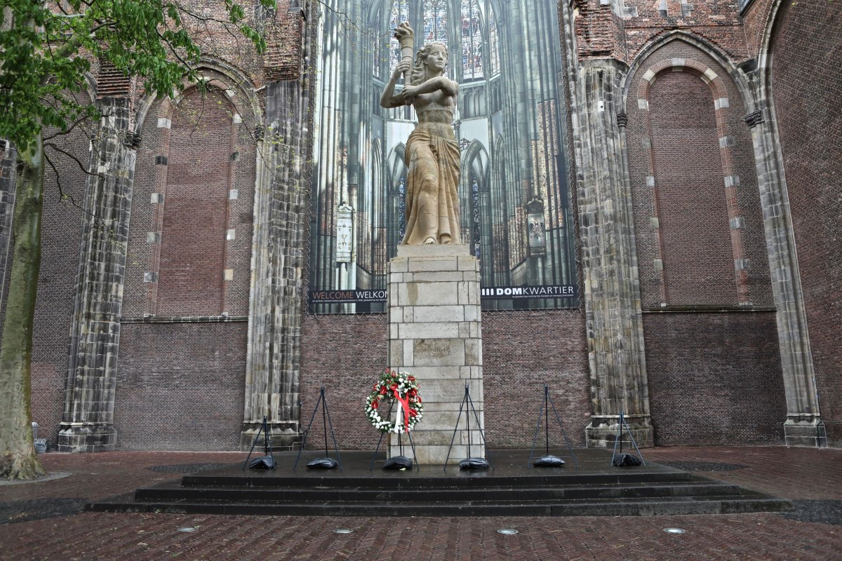 Domplein. foto: Ton van den Berg