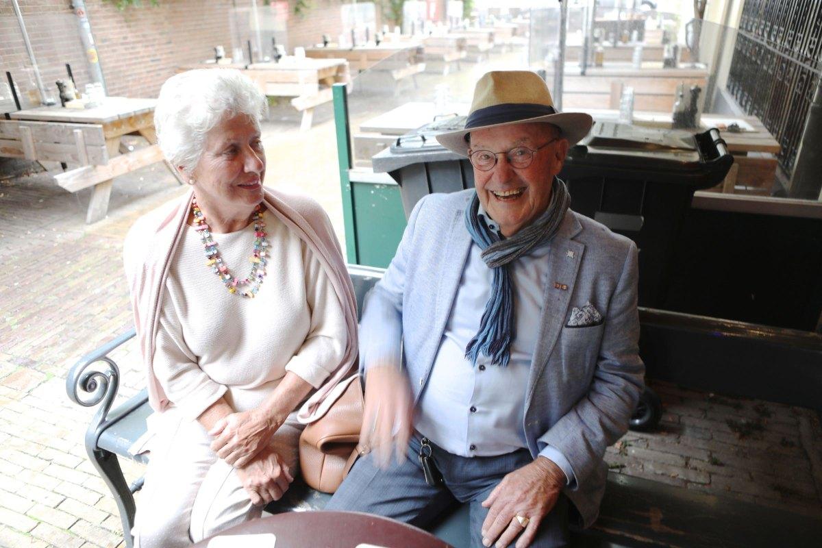 Herman Servaas met zijn echtgenote in september 2020. Foto: Ton van den Berg