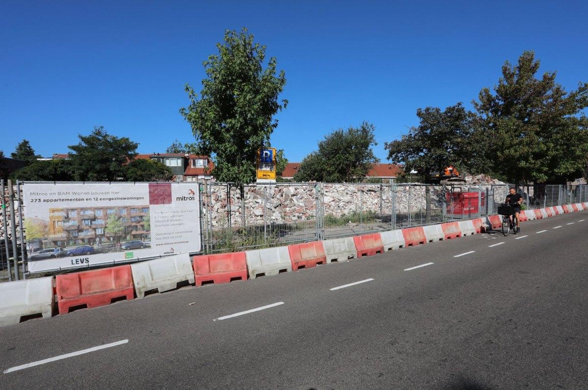 Sociale huurwoningen zijn op de Omloop gesloopt voor nieuwbouw van sociale huur en middelhuur. Foto: Ton van den Berg
