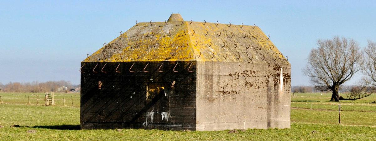 Een Type P-bunker bij het Gagelbos in Utrecht. Foto: Hendrik Dijk