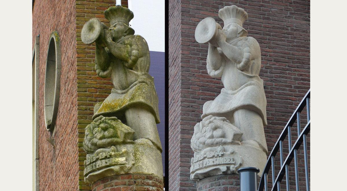 Het Lubrobakkertje van Jo Uiterwaal, vroeger en nu (foto's Willem Geijssen) - klik erop voor een vergroting
