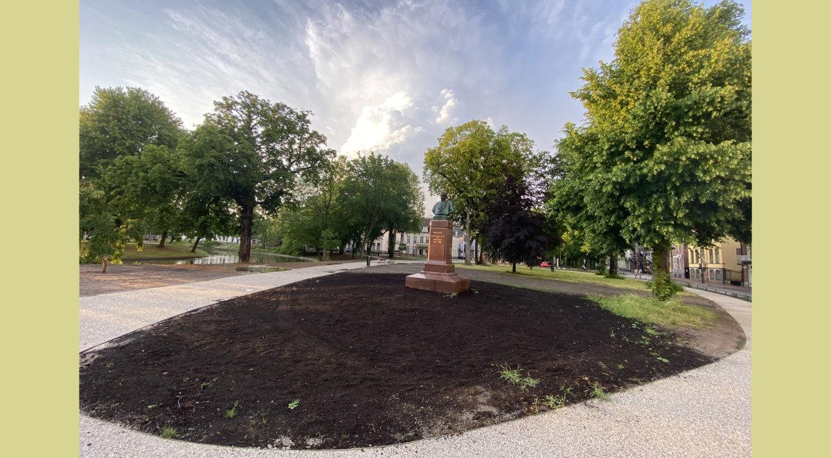 Het nieuwe parkje van burgemeester Reiger, juni 2021. Foto: Jim Terlingen