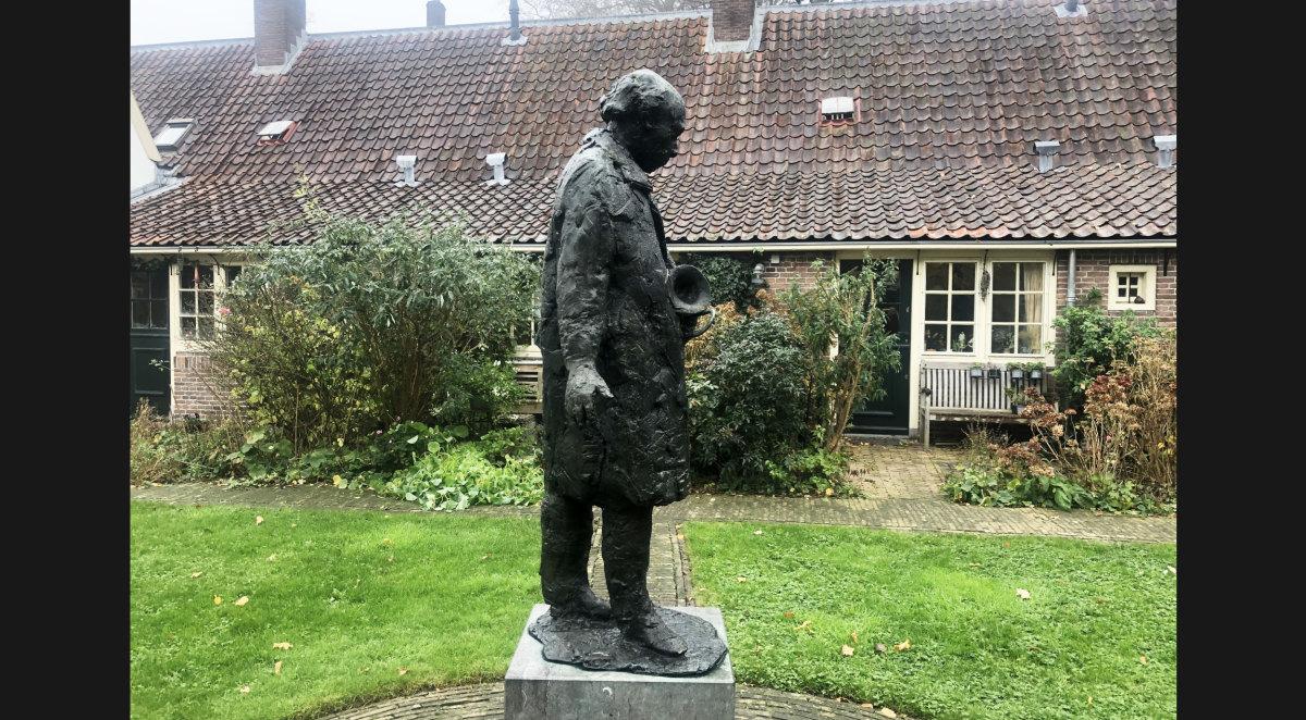 'De man met de schuiftrompet' van Hans Bayens. Foto: Marijke van Dorst.