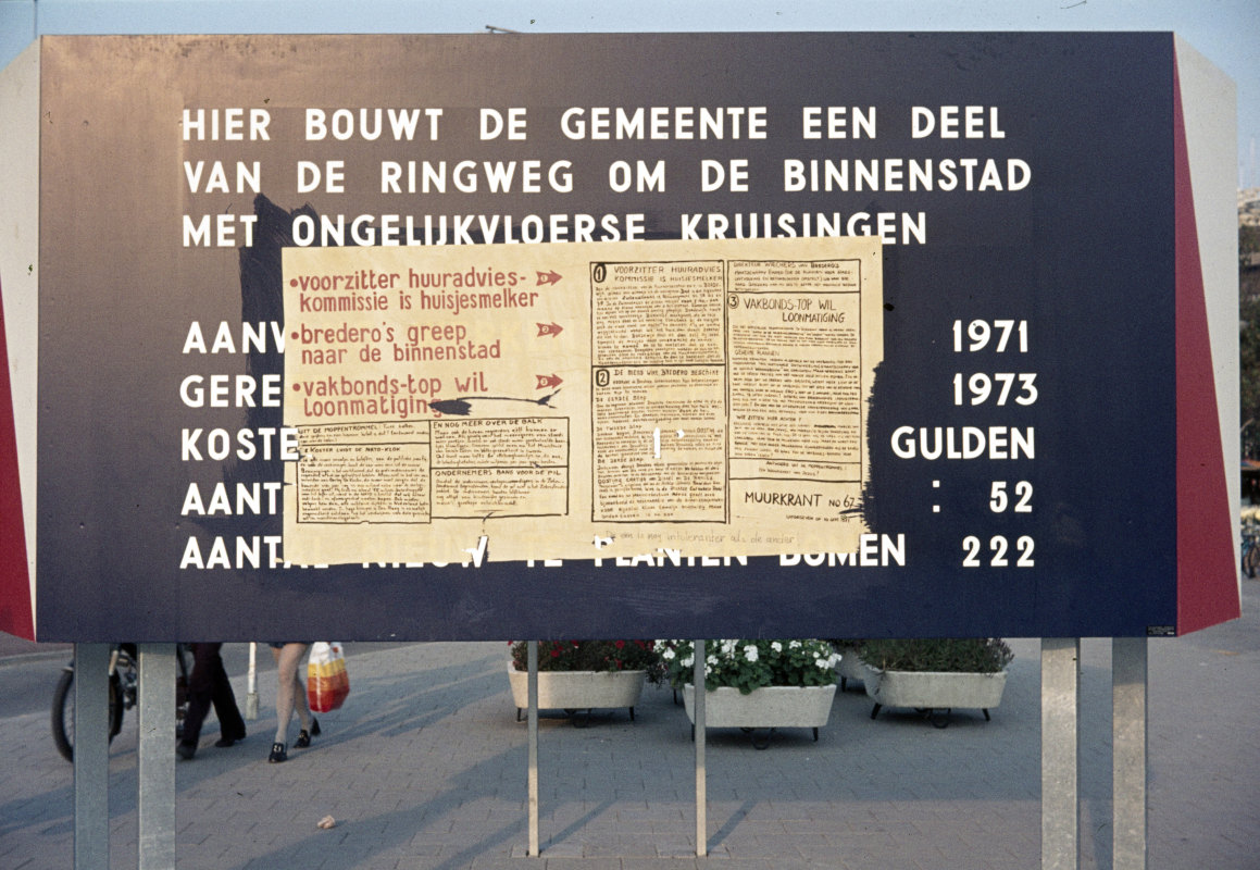 Een Muurkrant in 1971. Foto: W. Meijen/HUA