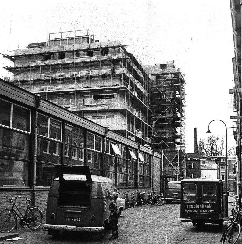 Nieuwbouw Wilhelmina Kinderziekenhuis in de A.B.C-straat 1968. Foto: T. Rijnberk/HUA