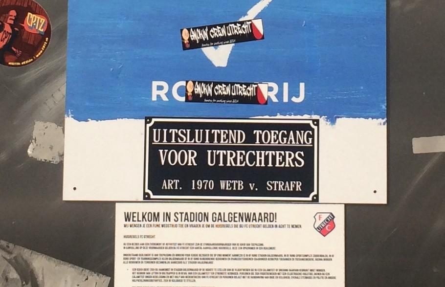 Toegangspoort 'West Y-Z' bij stadion Galgenwaard. Foto: Jim Terlingen
