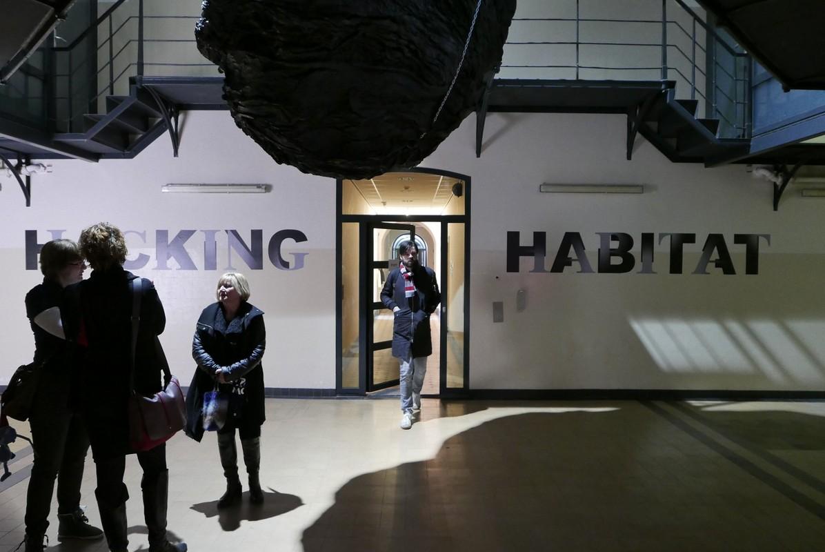 De entree tot Hacking Habitat. Foto's Michael Kooren
