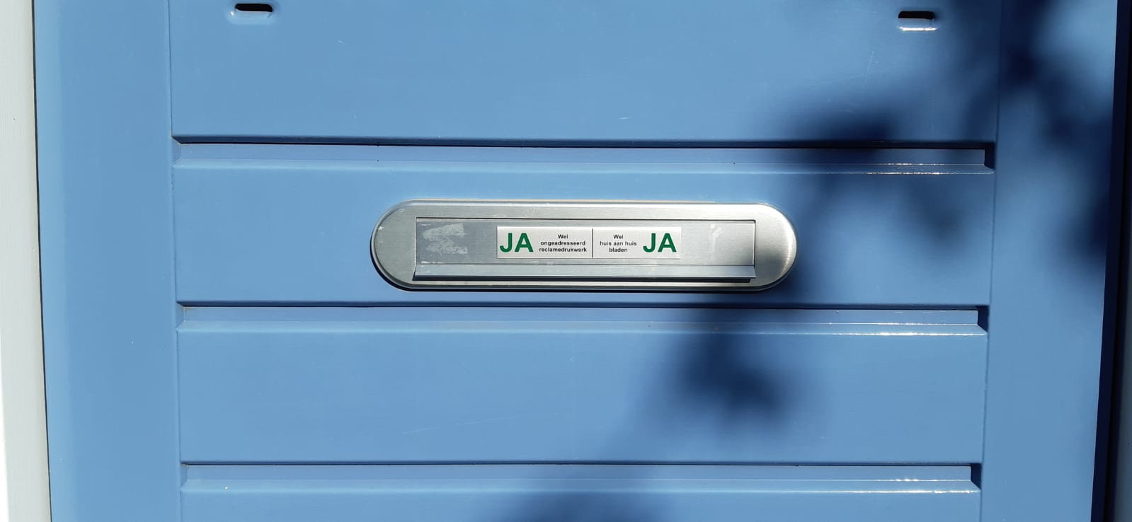 De ja-ja sticker. Foto: D. van Dijk
