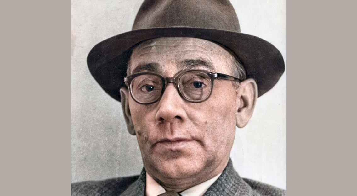 Jan Engelman, eind jaren vijftig. Zwart-witfoto: Utrechts Archief, inkleuring: Jim Terlingen.