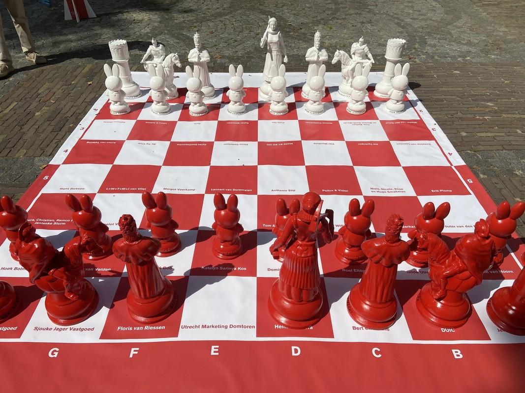 Het Utrecht Schaakspel, hier nog zonder Domtorens als koning. Foto: Jim Terlingen