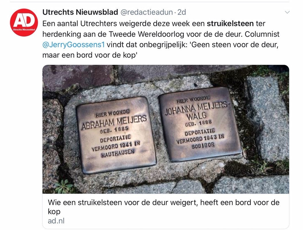 Twitter-bericht van het AD-UN.