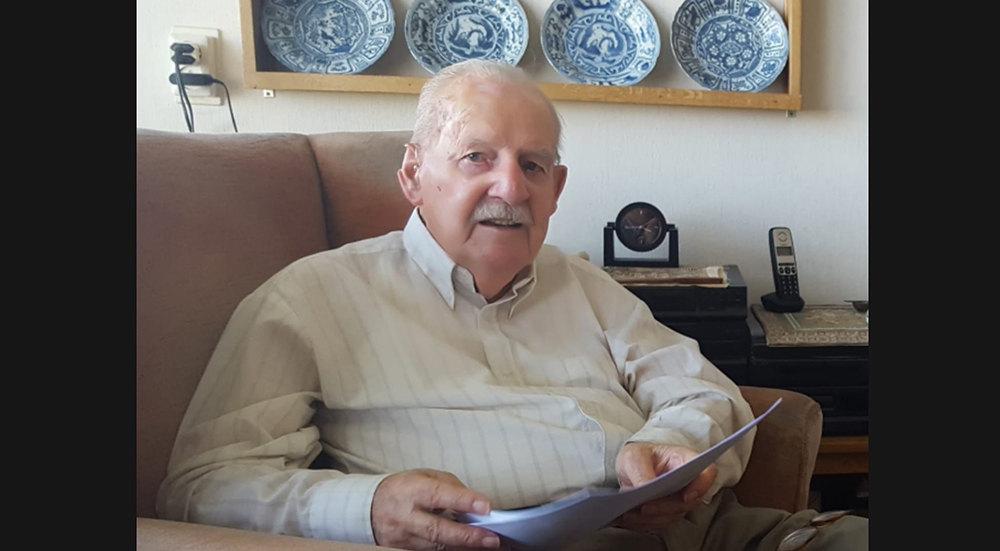 Jan Terlingen (1924-2021) op een foto uit 2018 gemaakt door Rolf Pieters.