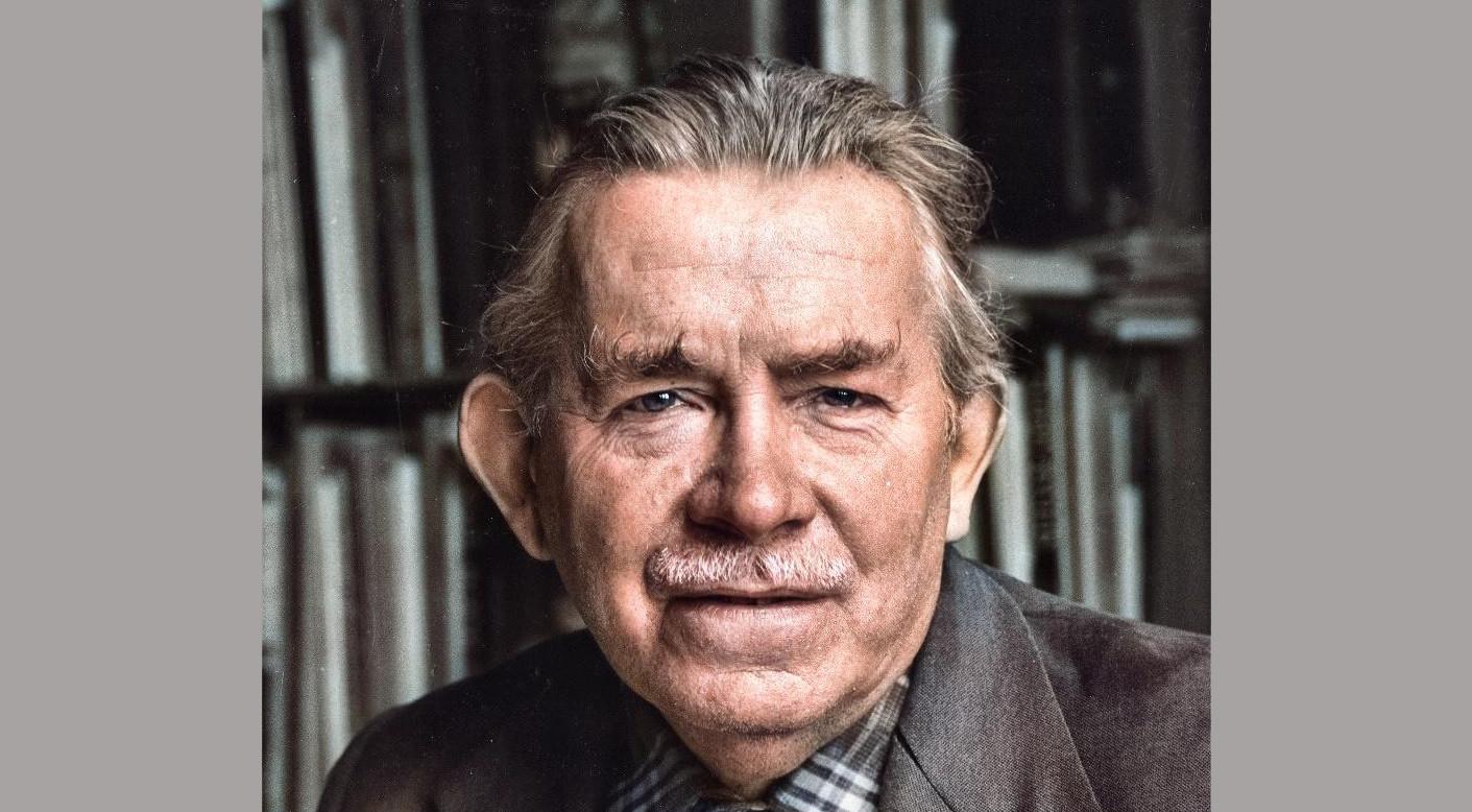 Joop Moesman, 1974. Foto: Utrechts Archief, inkleuring: Jim Terlingen