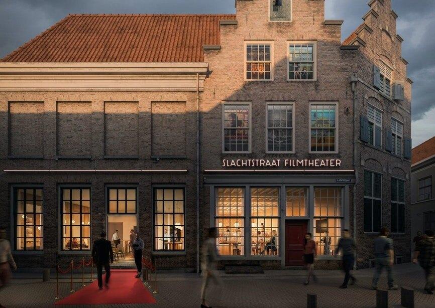 Een prachtige 'artist impression' van Filmtheater Slachtstraat.