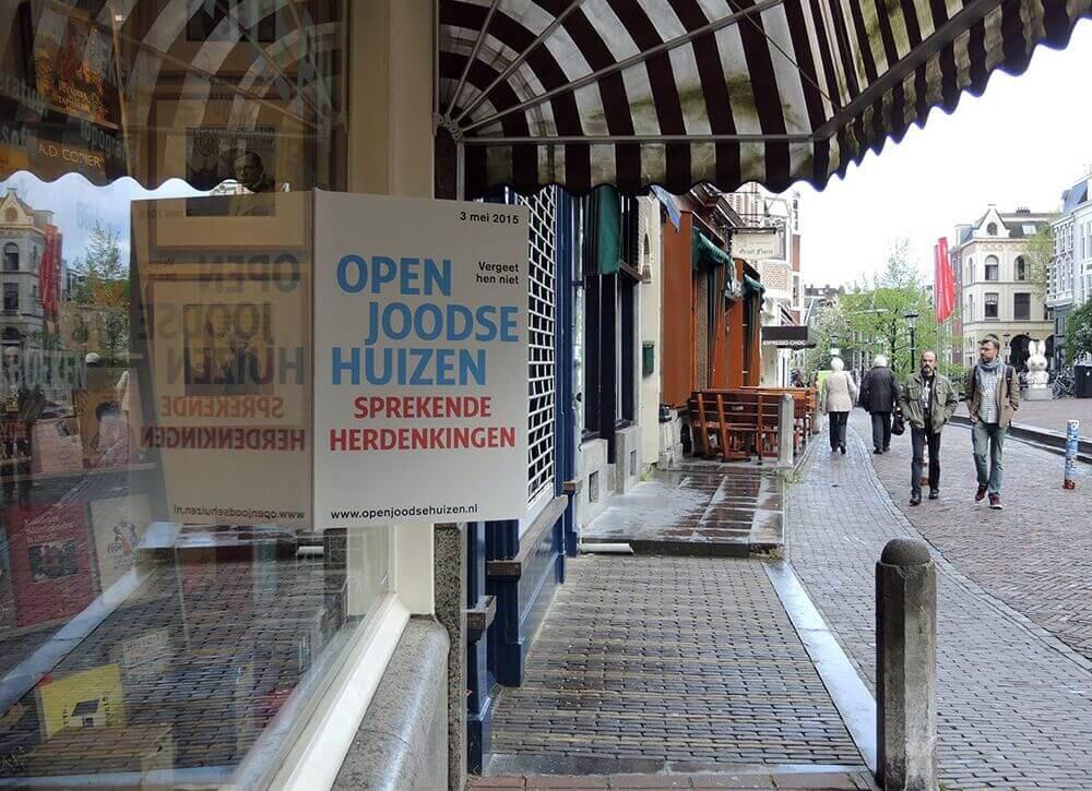 Bij de eerste Utrechtse Open Joodse Huizen-route in 2015 was Vismarkt 9 ook een locatie. Foto: J. Terlingen