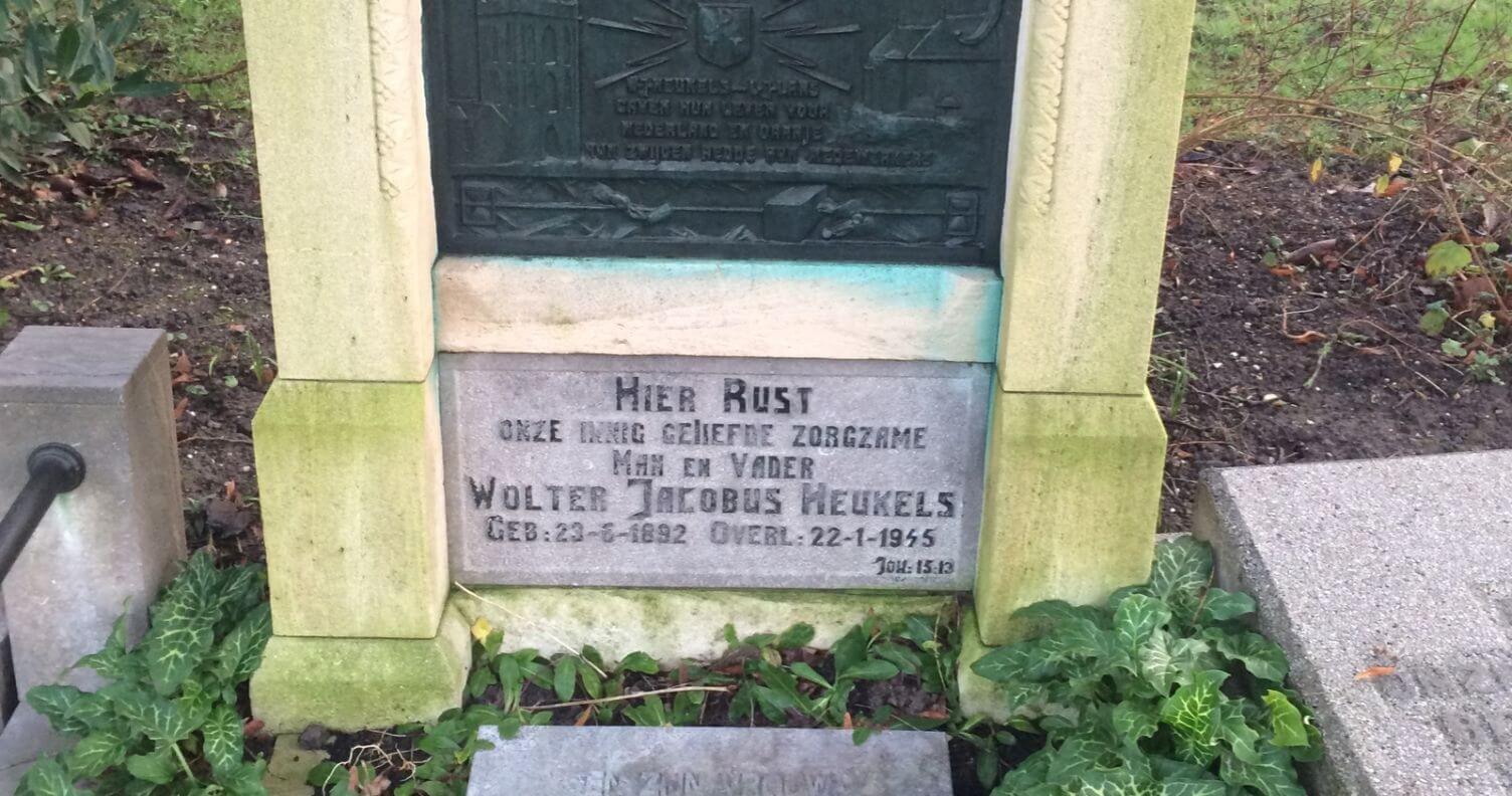 Het graf van Wolter Heukels (1892-1945) op Kovelswade. Foto: Jim Terlingen, 2020