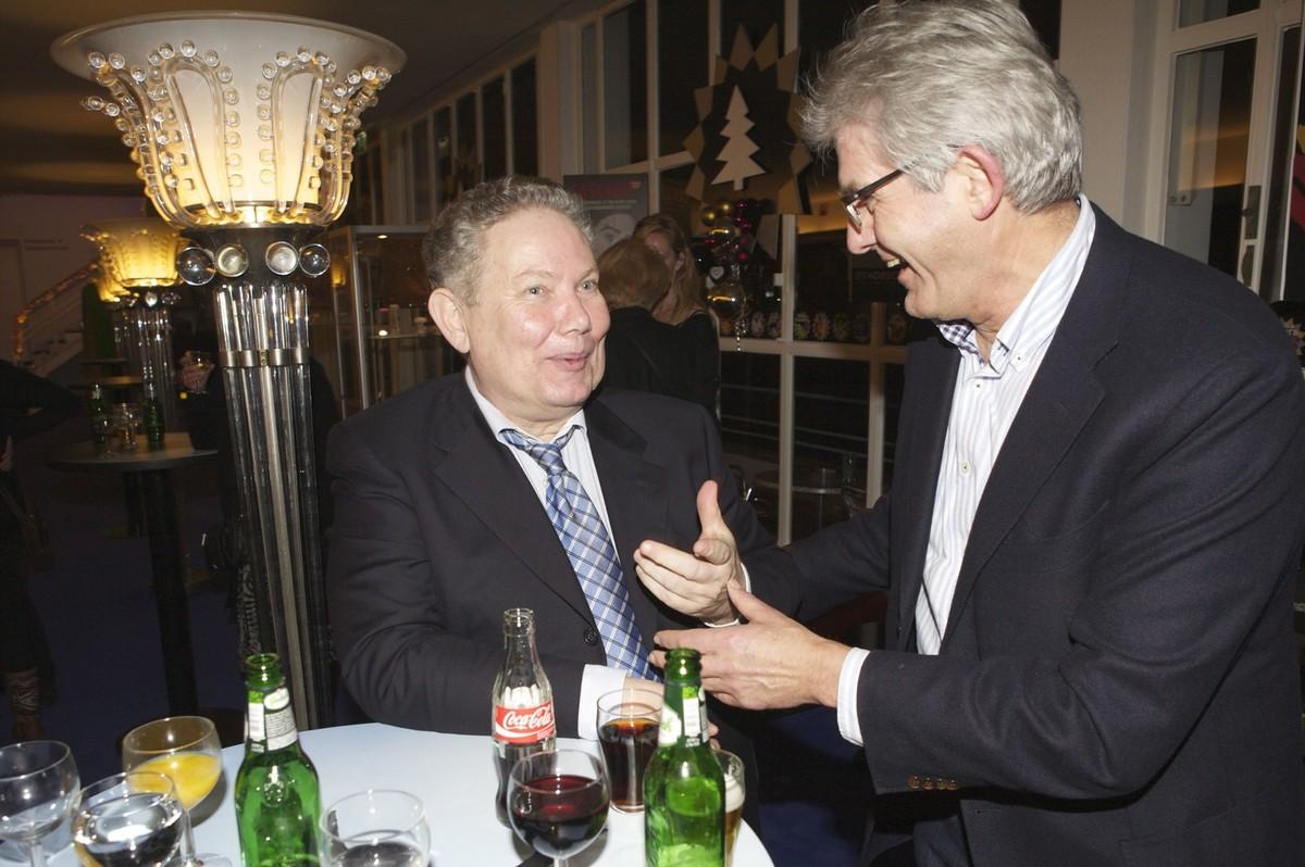 Wim Oostveen (links) met oud-Leidsche Rijn-wethouder Harrie Bosch. Foto: Ton van den Berg