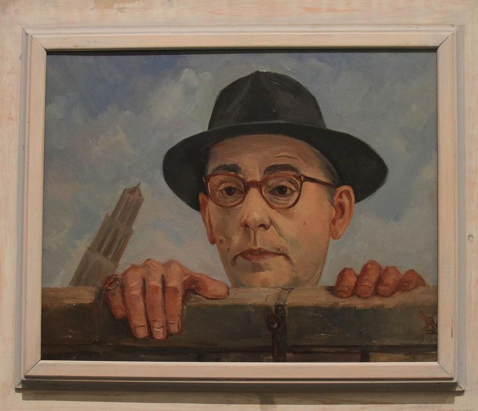 Portret van Jan Engelman door Piet Vermeulen, 1961. Foto: Willem Geijssen.