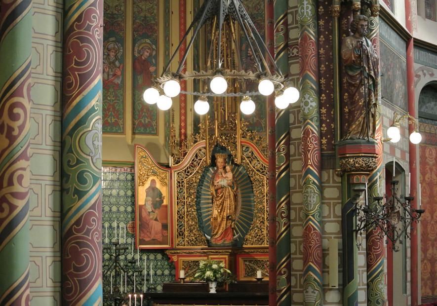 Deel van het interieur van de Wilibrordkerk. Foto: Willibrordkerk