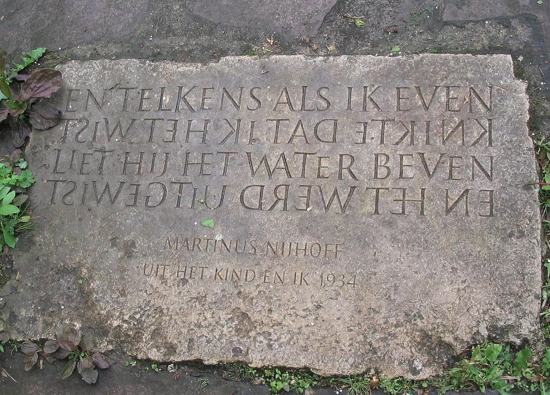 geluk steen met tekst