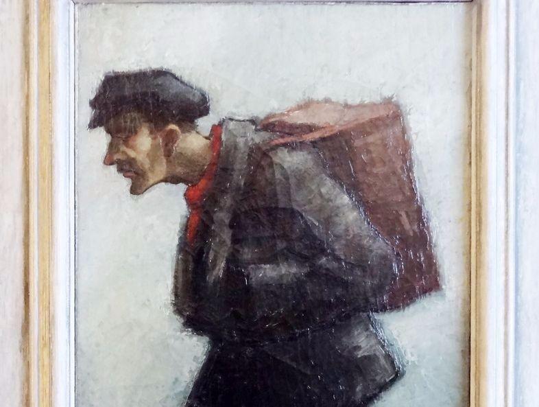 Het schilderij 'De marskramer' van Mar Diemèl. Foto: Volksbuurtmuseum