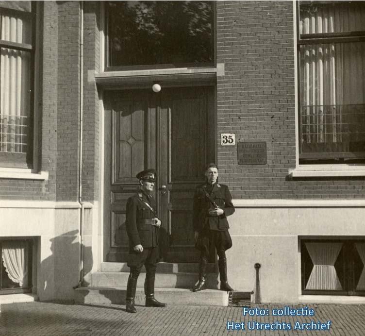 Maliebaan 35 tijdens de oorlog. Foto: Het Utrechts Archief