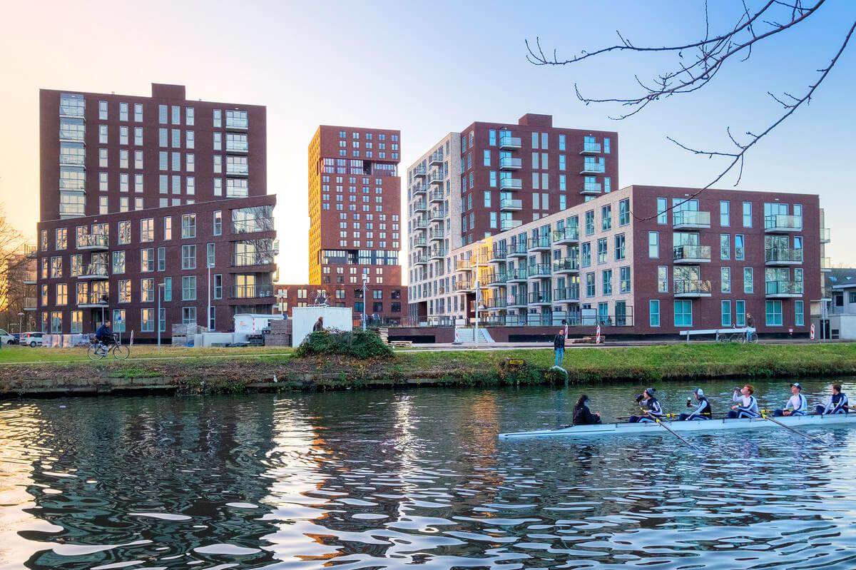 De bouwhoogtes van Max, Lux en Pax worden maatgevend voor de aanblik van de nieuwe wijk Merwede. Foto: Gemeente Utrecht/Corné Bastiaansen
