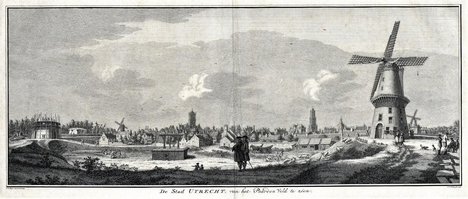 Het Paardenveld rond 1744 door Jan de Beijer