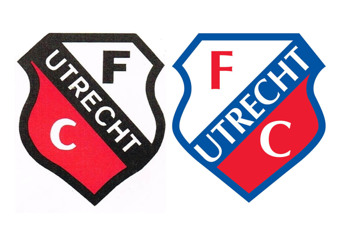 Het logo in de jaren tachtig (links) en de versie die nog steeds gebruikt wordt (rechts).