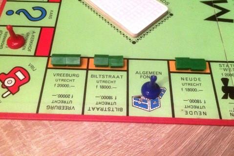 Utrechtse straten in het Monopolyspel.