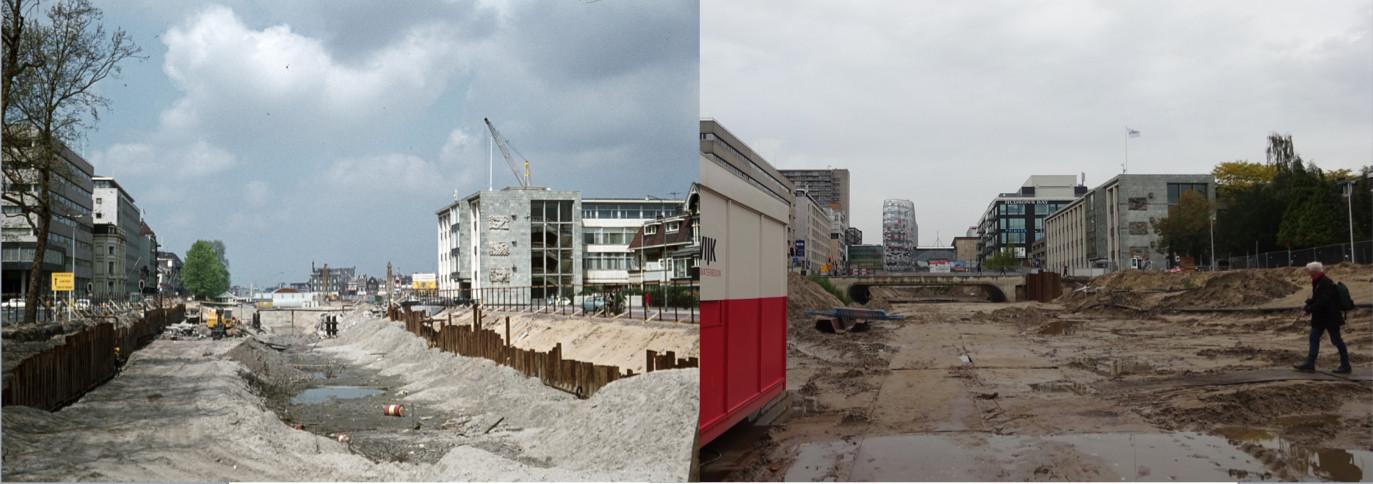 De singel toen (beginjaren '70) en nu (oktober 2019). Foto's: HUA en P. Swieringa