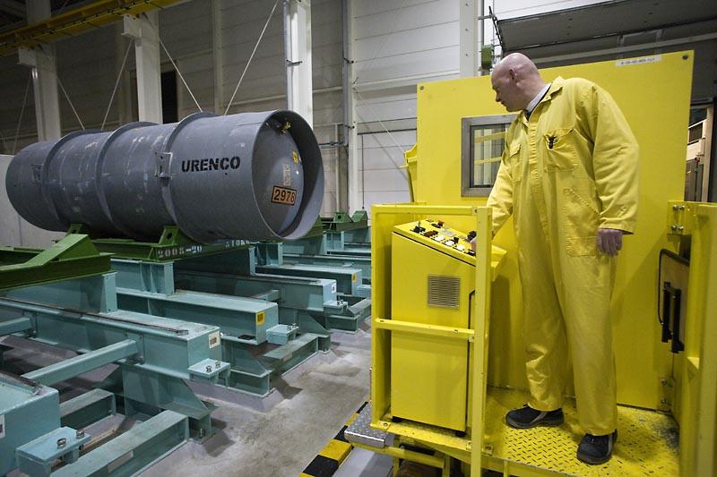 In de fabriek van Urenco wordt uranium verrijkt, o.a. tot brandstof voor kernreactoren. Foto: Rob Huibers/Hollandse Hoogte