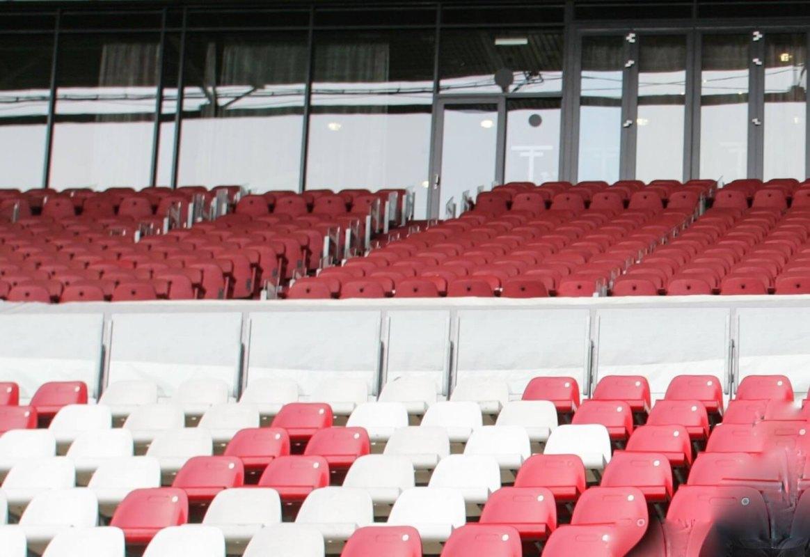 Lege tribunes in Galgenwaard. Foto: Nieuws030