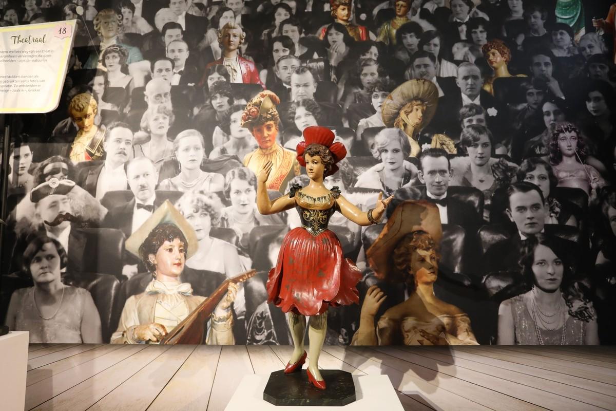 Een orgelbeeld in de expositie in Museum Speelklok. Foto: Ton van den Berg