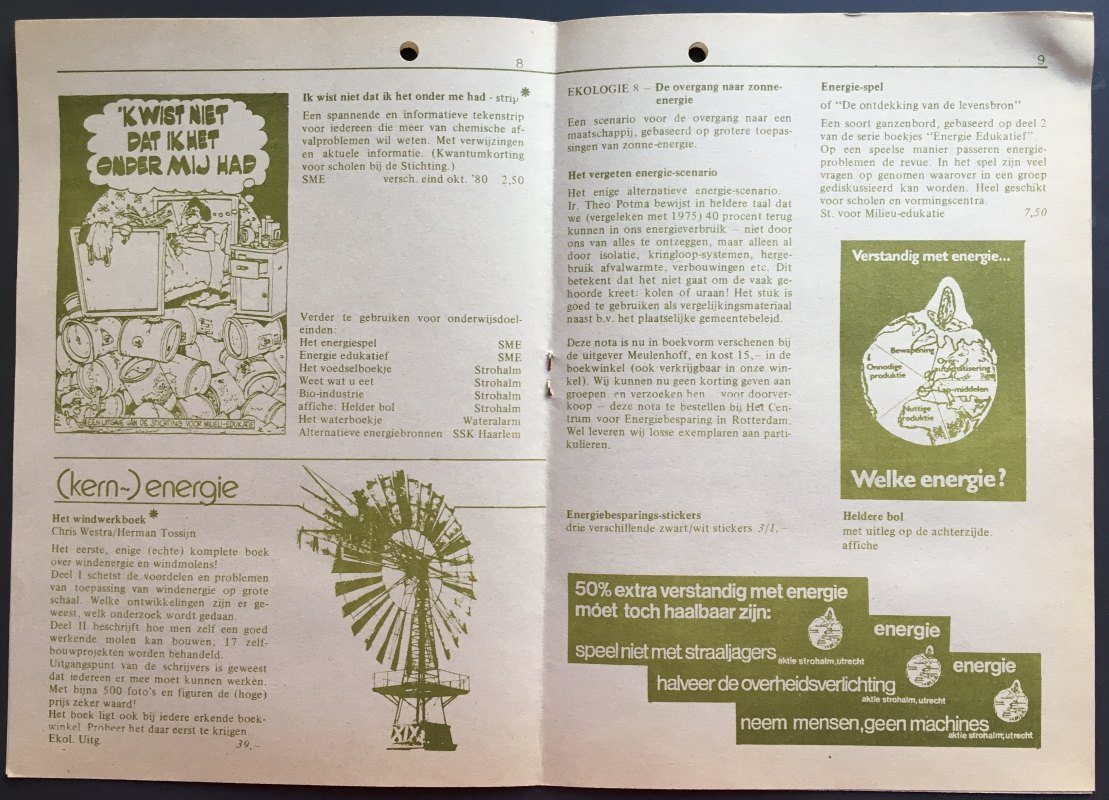 Twee pagina's uit Uitgavenlijst 1980 van Aktie Strohalm. Foto: Dik Binnendijk