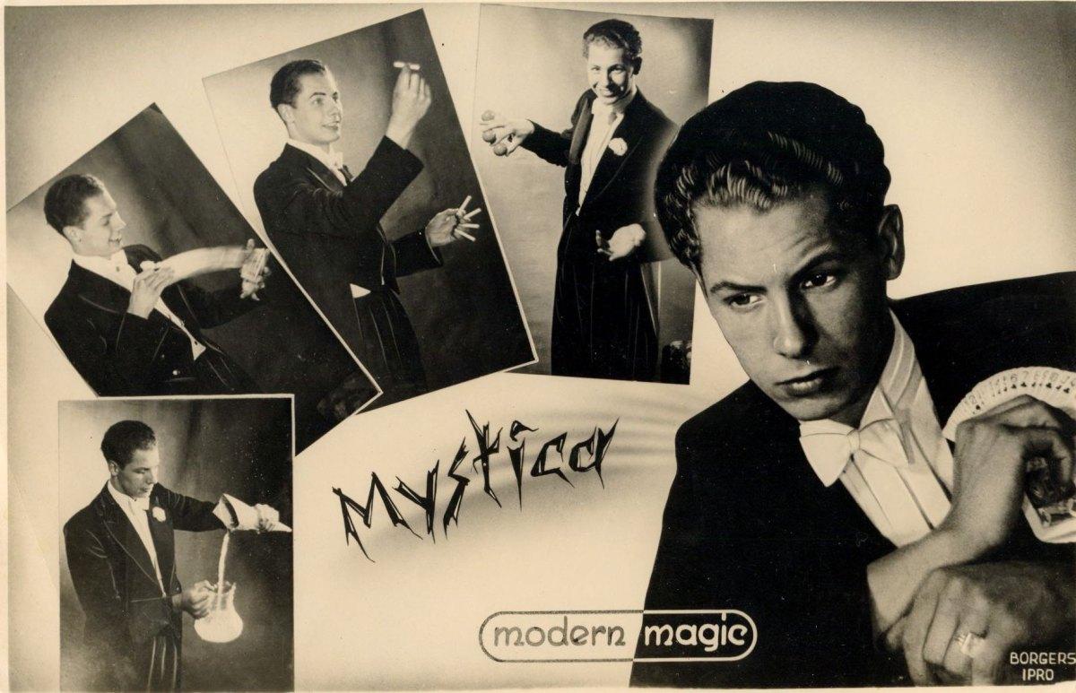 Een flyer van Fred Kaps die in het begin van zijn carriere ook werkte onder de naam Mystica. Foto: collectie Nieuws030