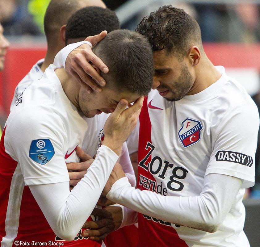 Dalmau nadat hij in april scoorde tegen Sparta. Foto: Jeroen Stoops