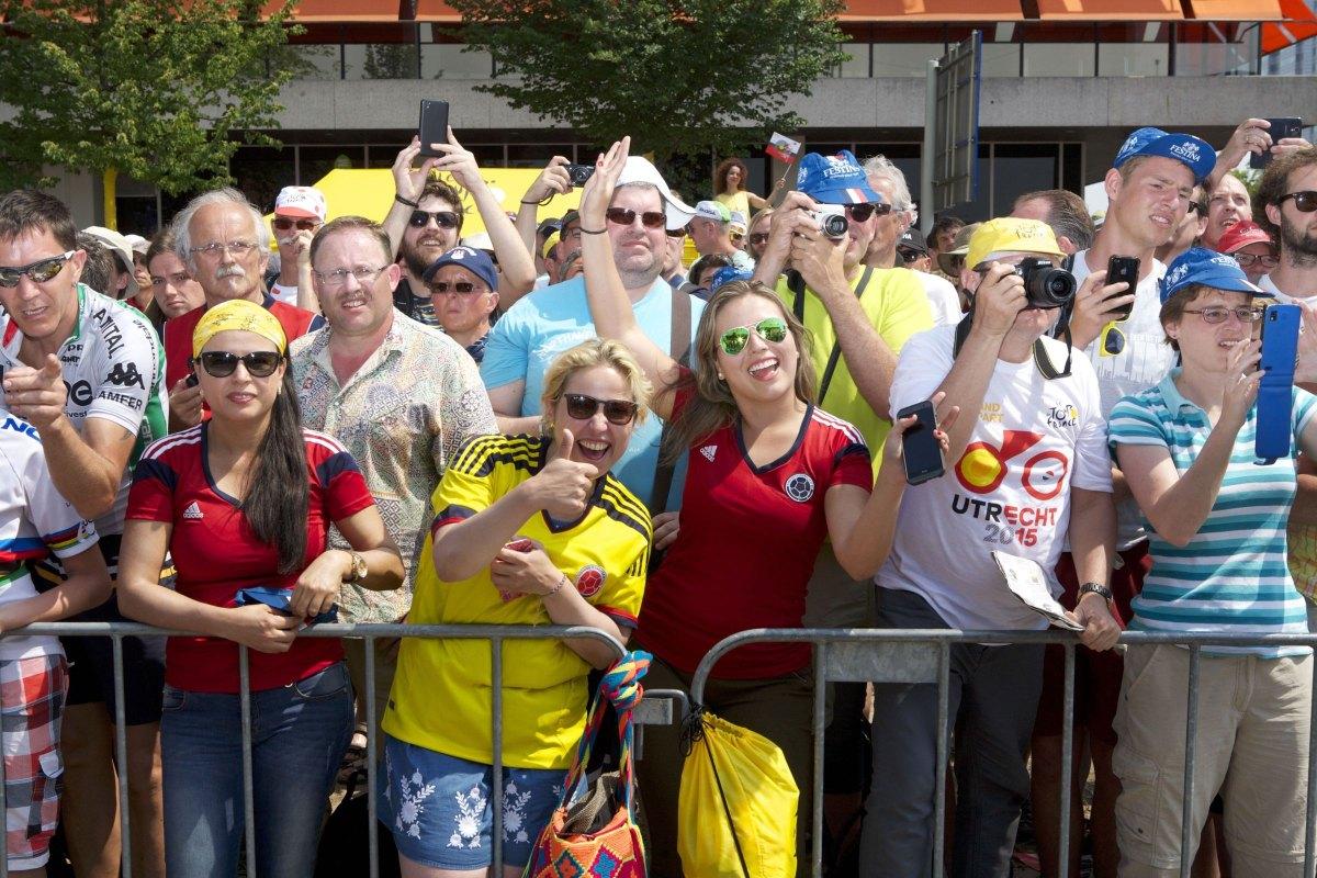 De start van de Tour de France in 2015 zette Utrecht 'op de kaart'. Foto: Ton van den Berg