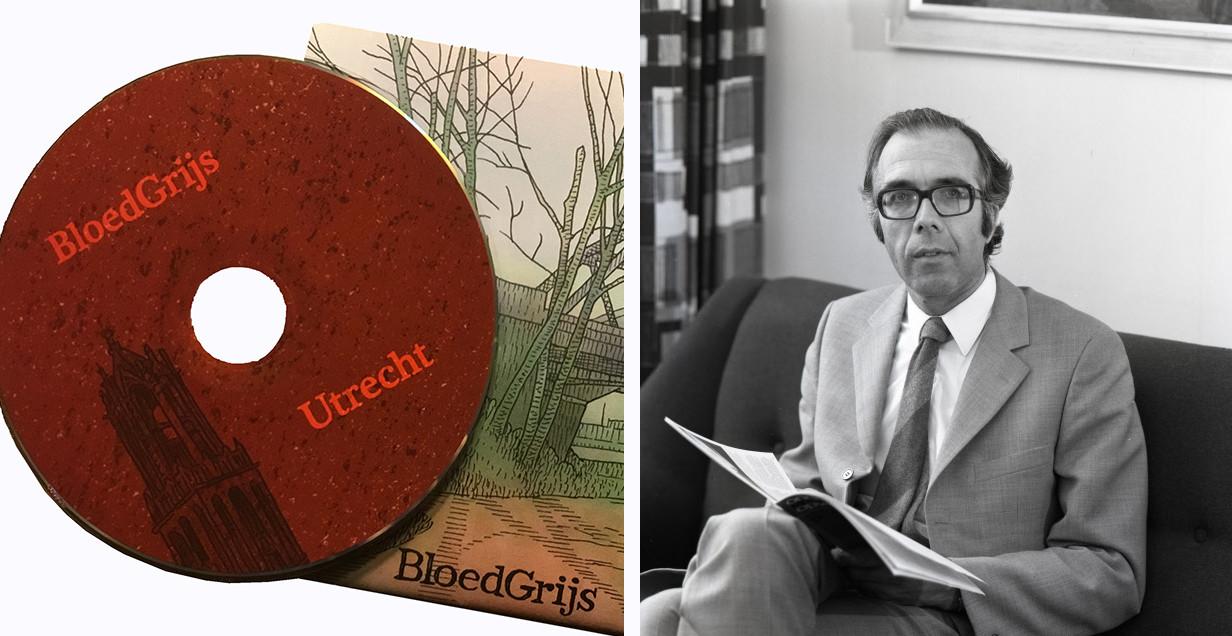 De cd 'Utrecht' van BloedGrijs en Kees Pot (1930-2017). De foto van Pot: collectie Het Utrechts Archief