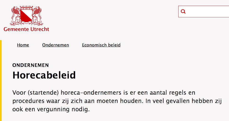 Informatie op de website van de gemeente Utrecht