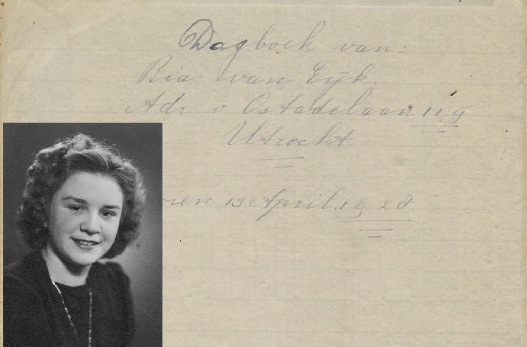 Voorpagina van het dagboek en foto van Ria van Eijk. Foto: Collectie Willem Geijssen