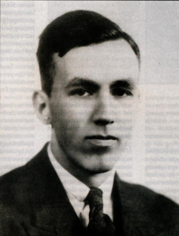 Wim Eggink (1920 - 1945) leider van het universitaire verzet. Foto: Oud-Utrecht-april 2005