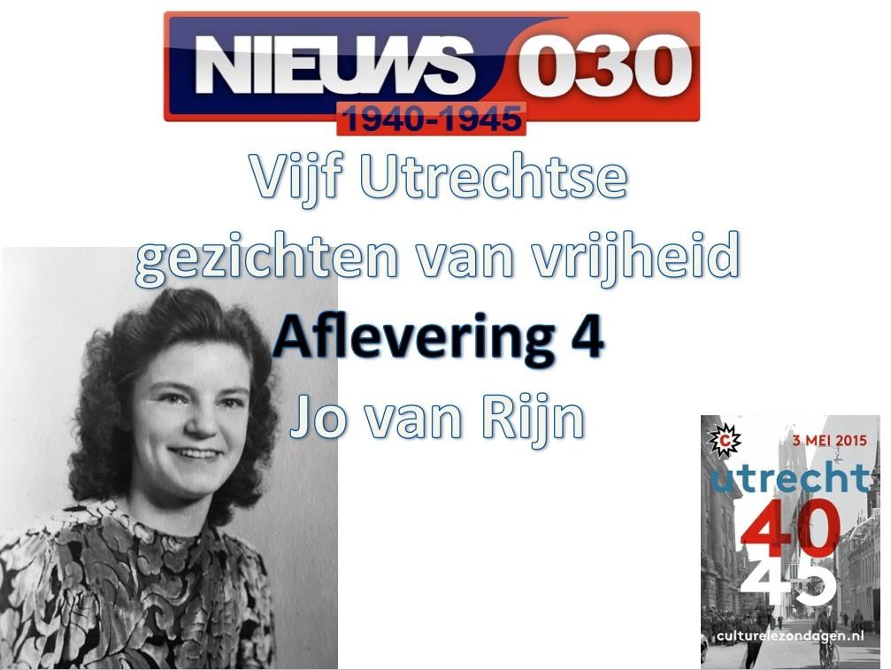 Utrechtse gezichten van vrijheid: Jo van Rijn