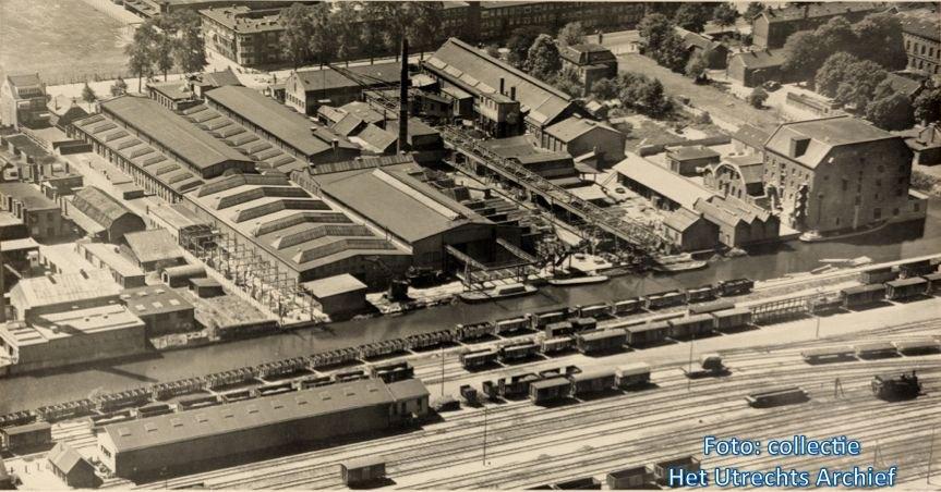 De metaalfabriek Frans Smulders waar in februari 1941 wordt gestaakt. Foto: Collectie HUA