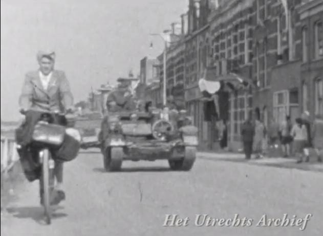Een fragment uit de film van de familie Schulte gemaakt op de Leidseweg. Foto: HUA