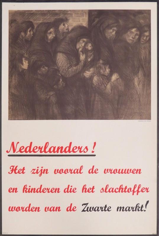 Poster waarin zwarte handel wordt aangepakt. Foto: Collectie HUA