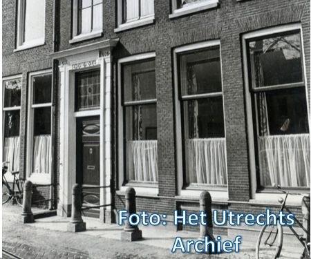 Het woonhuis van Ina Boudier-Bakker aan de Oudegracht. Foto: HUA