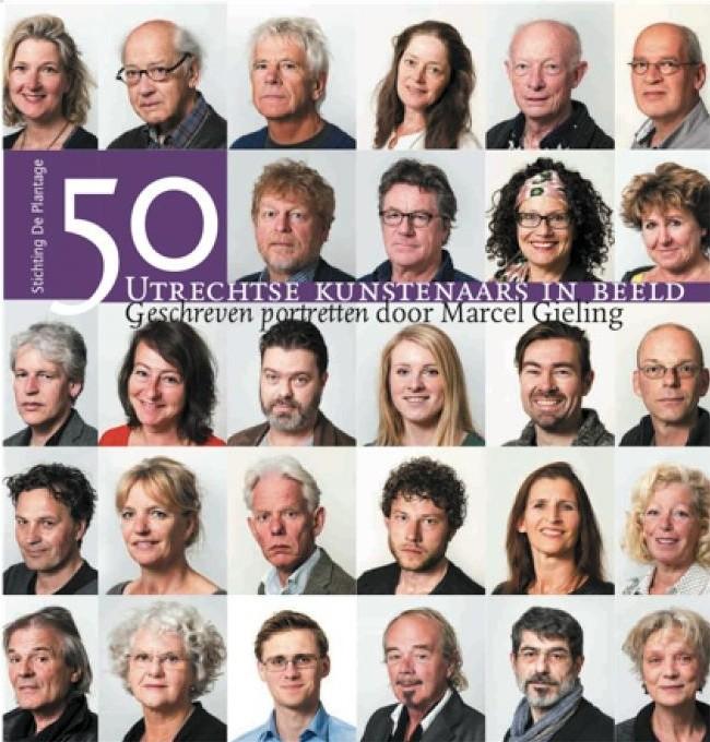 Omslag van het boek over 50 Utrechtse kunstenaars.
