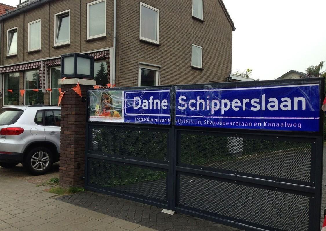 In Oog in Al noemden in 2015 buurtbewoners een straat naar Dafne Schippers. Foto: W. van Tiel