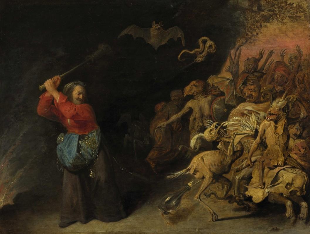 Dulle Griet, de heks, een schilderij van David Ryckaert III,  ca. 1655. (Kunsthistorisches Museum, Wenen)